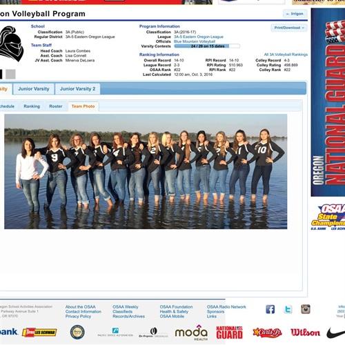 Irrigon High School - Girls Varsity Volleyball