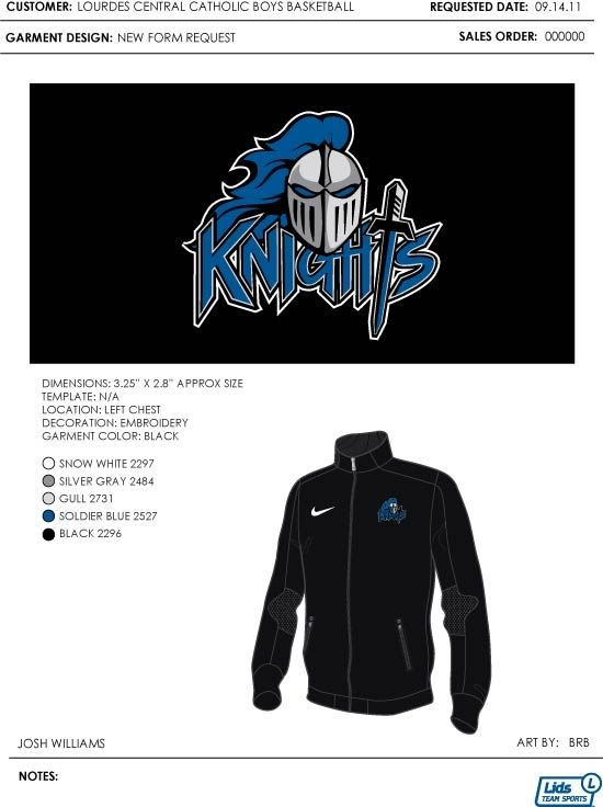 Lourdes Central Catholic High School - Boys' Varsity Basketball - New