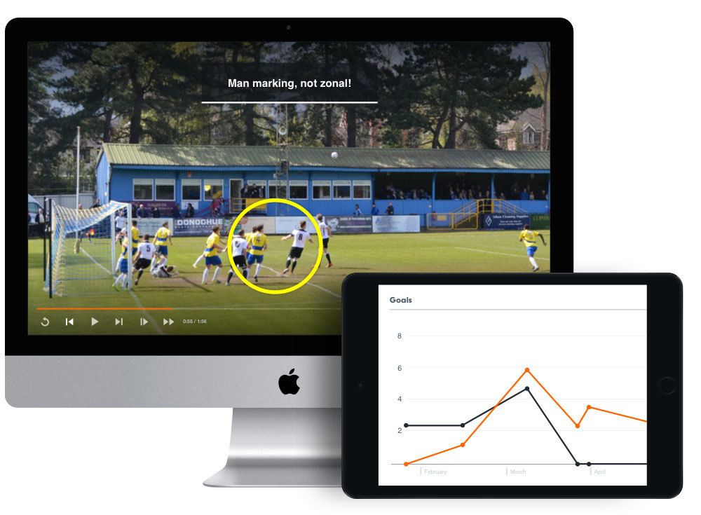 Hudl performance analysis on computer and ipad