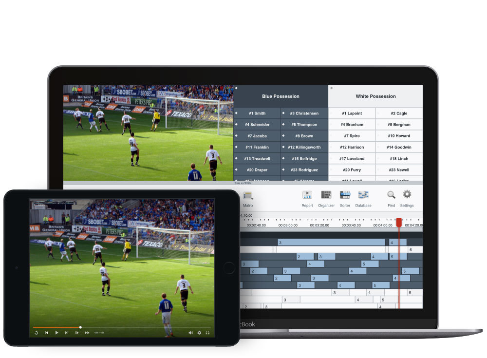 Professional performance analysis with Sportscode