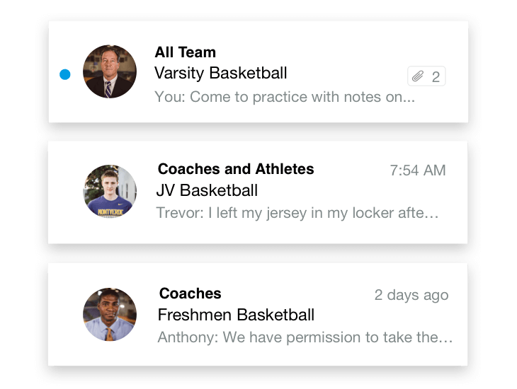 team messaging with Hudl