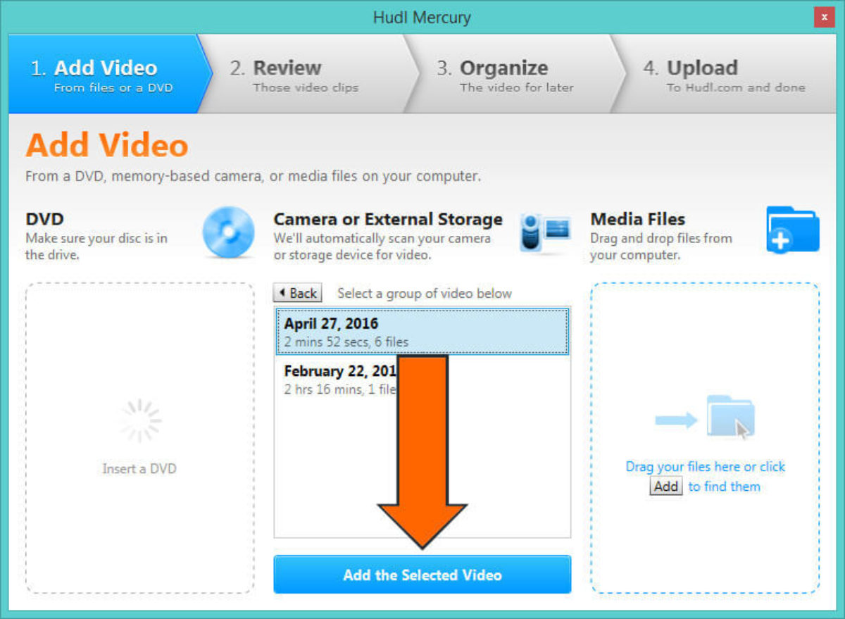 Select The Desired Media Files And Click Add Selected Video Here For Your Next Steps