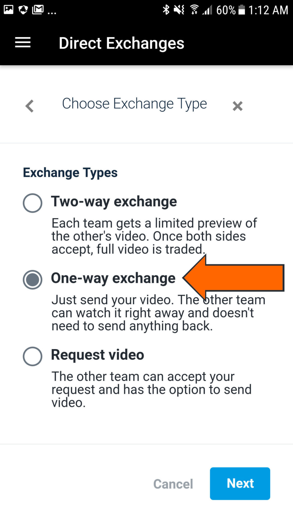 Request Video Send A Message Requesting From The Other Team