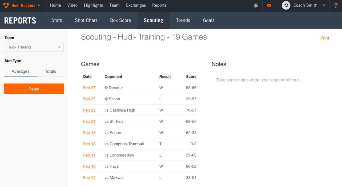 reports overview support use data and stats to break down an opponent s strengths and weaknesses then add custom notes to share the rest of the team