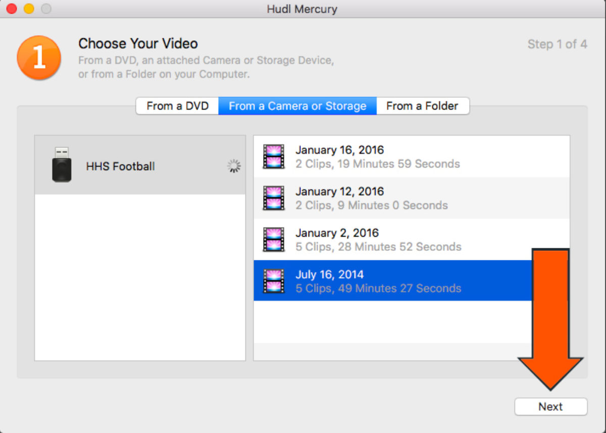 Select Media Files And Click Next
