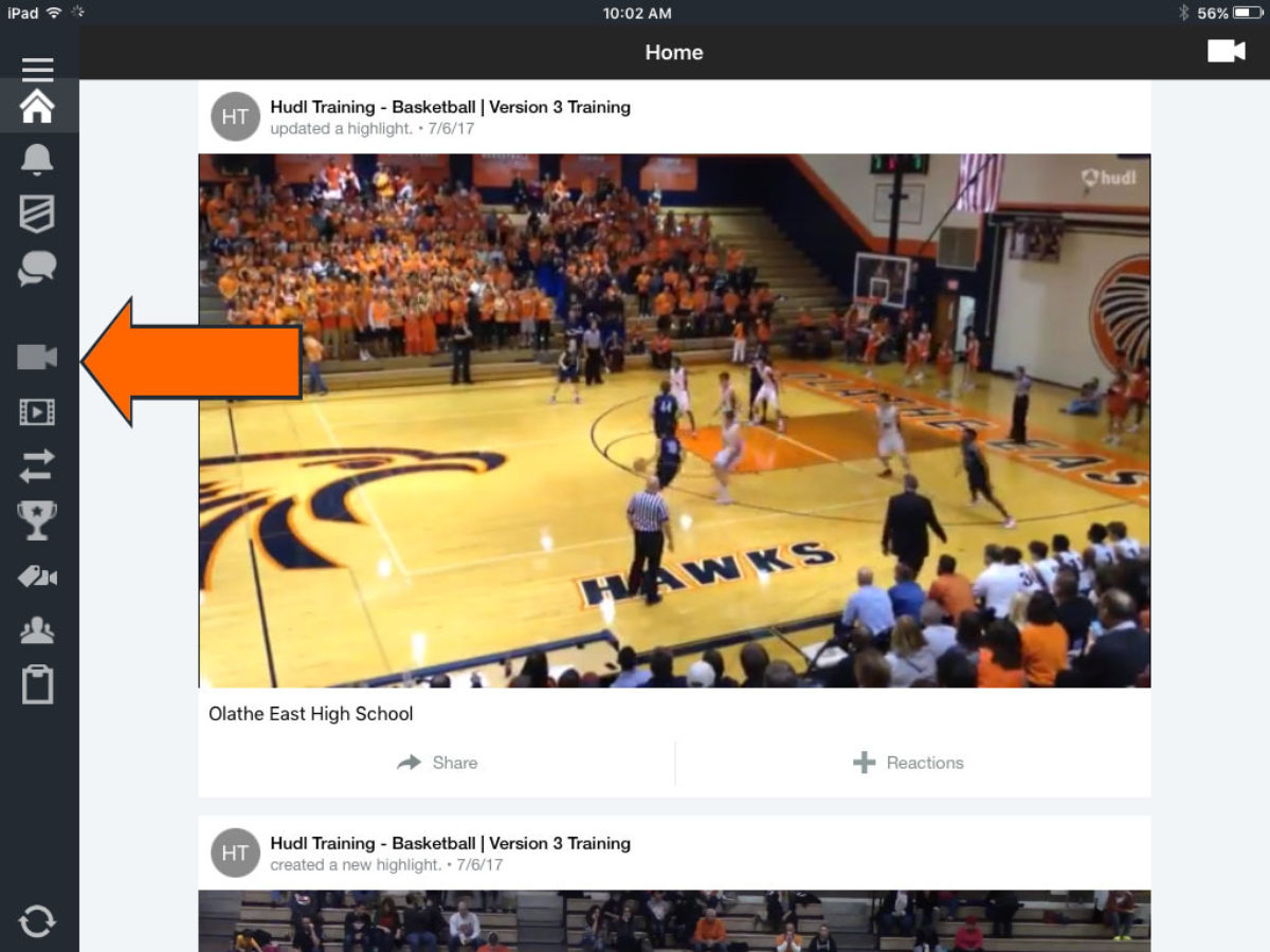 record and upload from the hudl app hudl support