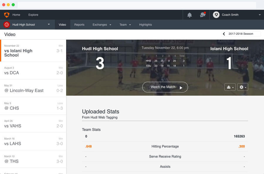 Hudl Version 2 Library