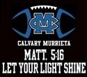 Calvary Murrieta Christian School - Warriors Football