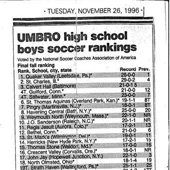 The Pingry School - Boys Varsity Soccer
