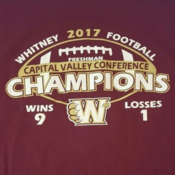 Whitney High School - Freshman Football: Home of the 2017 CVC Champs!!