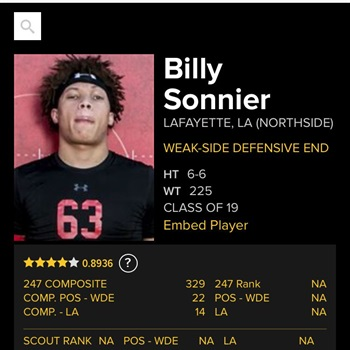 Billy Sonnier #teambilly