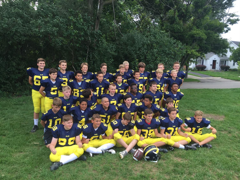 Washtenaw Junior Football - Varsity Blue