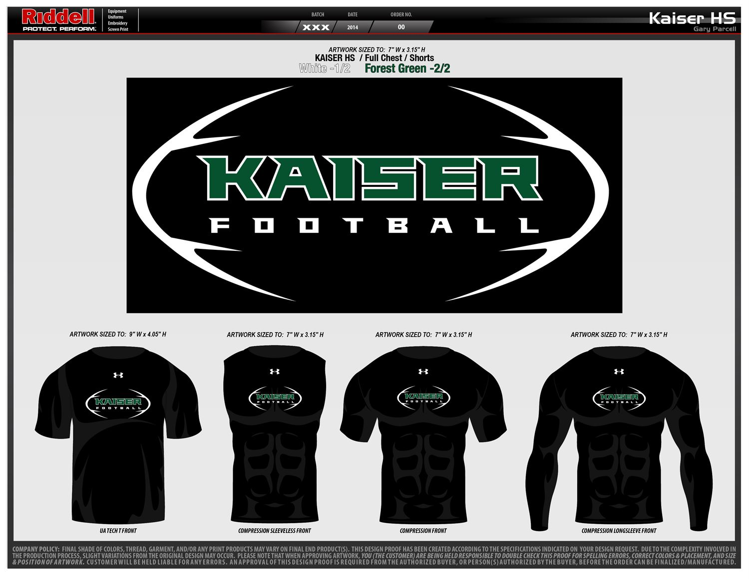 Kaiser High School - Boys Varsity Football