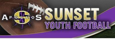 Sunset Youth Football -TVYFL - Sunset 5/6 White