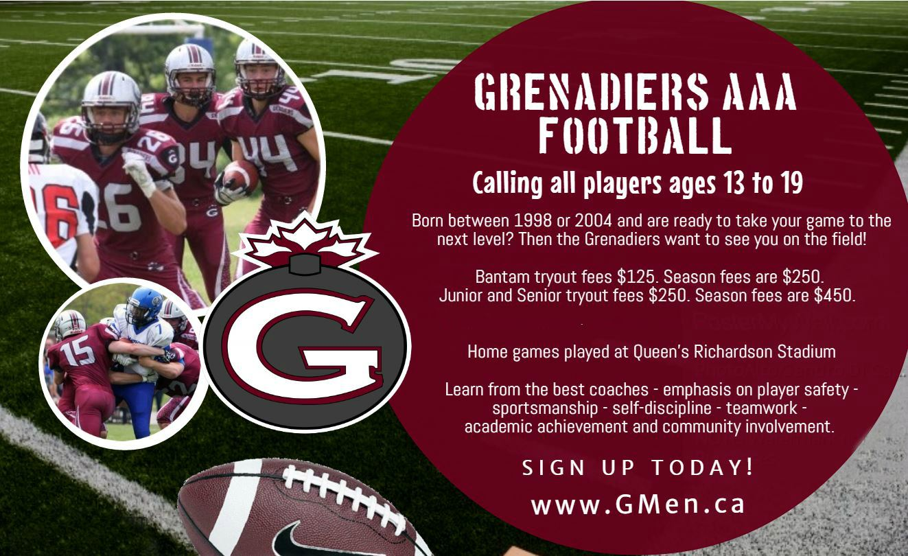 Grenadiers - Bantam Football