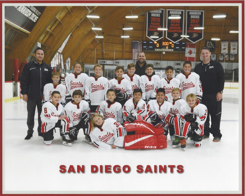 Saints Squirts San Diego Saints Poway California Ice Hockey
