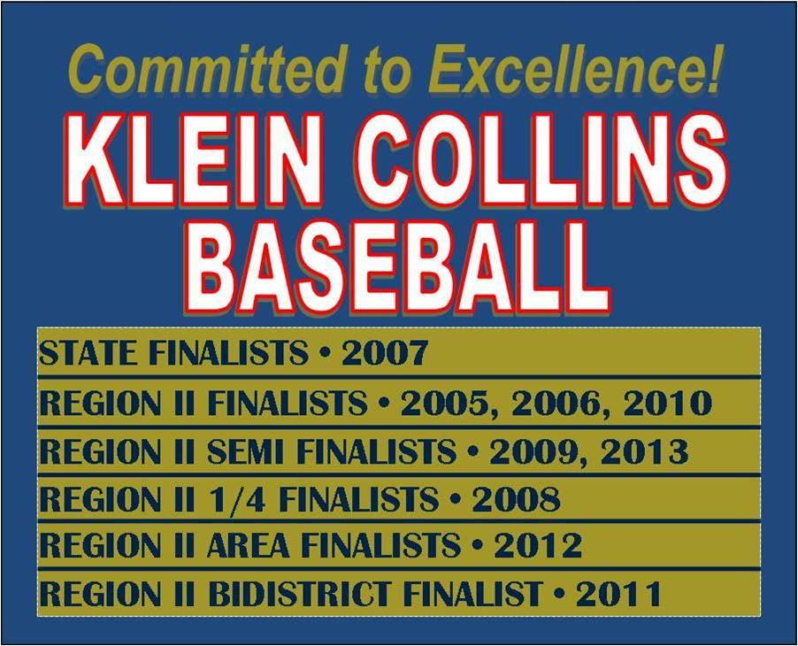 Klein Collins High School - Boys Varsity Baseball