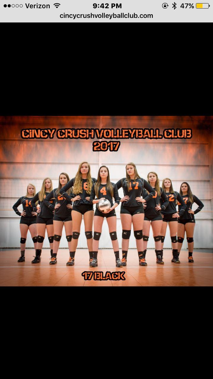 Cincinnati Crush Volleyball Club - 17 Black
