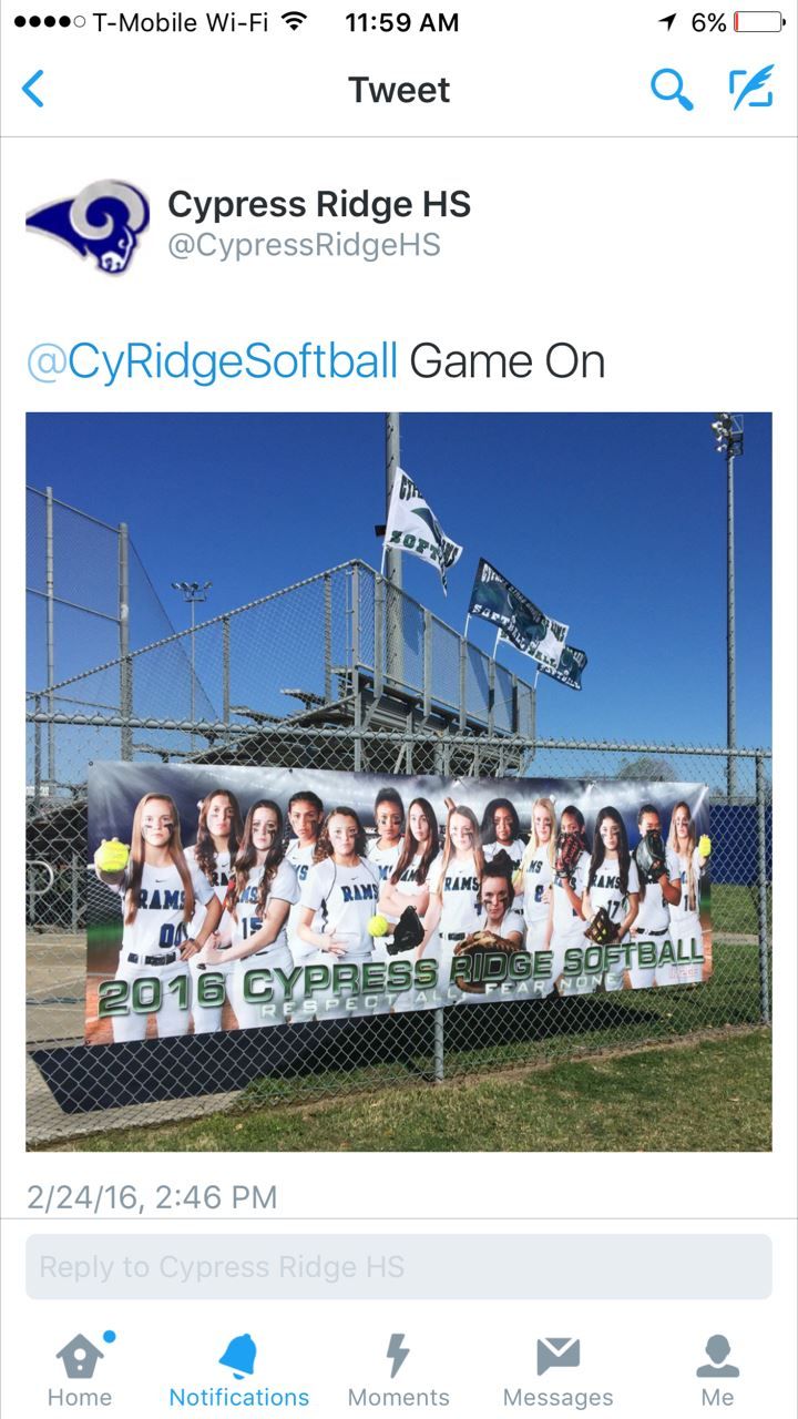 Cypress Ridge High School - Cypress Ridge Rams Softball